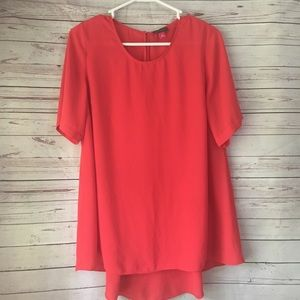 Vince Camuto Red High Low Blouse